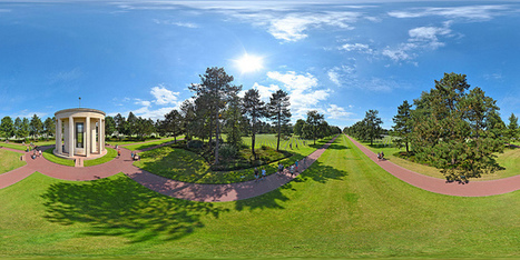 Normandy American Cemetery and Memorial, Colleville - France, Panorama 360  x 180° au mât télescopique, Copyright © Pascal Moulin | moulin360panoramic | Scoop.it