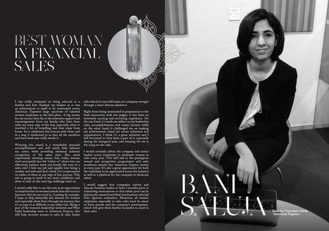 Bani Saluja Director Consumer Cards, American Expres Best Woman In Financial Sales Winner | Women In Sales | Scoop.it