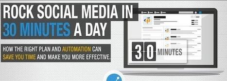 Gestion des réseaux sociaux en 30 minutes par jour | Geeks | Scoop.it