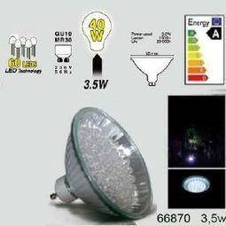 Easy Connect ampoule led Gu10 MR30 à 60 leds Blanches | Easy Connect ampoule led Gu10 MR30 à 60 leds Blanches | Scoop.it