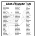 A List of 174 Character Traits   Free Elementary Worksheet Printables   Scoop.it