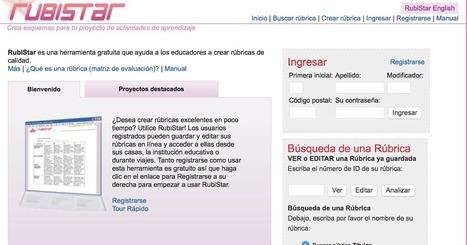 TIC Champagnat: Rubristar, tu herramienta para crear rúbricas | Educació | Scoop.it