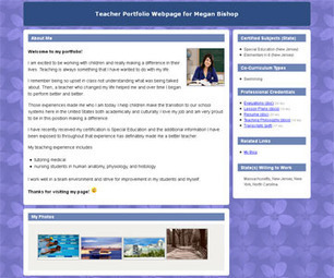 Portfoliogen - Create a Free Customized Teacher Portfolio Webpage in Minutes! | E-Learning and Online Teaching | Scoop.it