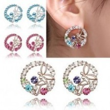 Lovely Angle Girl Crystal Flower Earrings R083 | fashion and cheap jewelry | Scoop.it