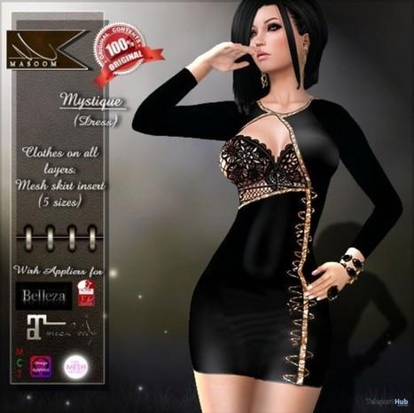 Mystique Dress Blue Subscriber Gift by Masoom | Teleport Hub - Second Life Freebies | Second Life Freebies | Scoop.it