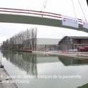 Bobigny : pose du dernier tronçon de la passerelle ZAC Ecocité-Canal de l'Ourcq   Construire en Acier   Scoop.it