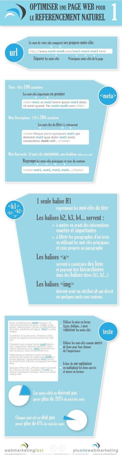 Infographie : Optimiser une page web pour le référencement naturel | Plus de Webmarketing | Time to Learn | Scoop.it
