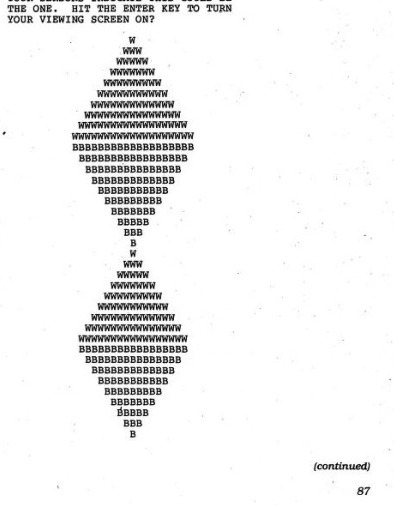 From the book 'Computer Space Adventures' by Paul... | ASCII Art | Scoop.it