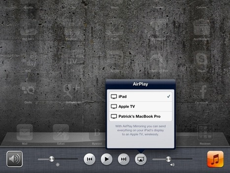 How To Use AirPlay Mirroring from iPad to Apple TV or a Mac | Ipads Advisor | Technology Bits and Bytes | Scoop.it