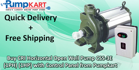 Buy CRI Horizontal Open Well Pump CSS-3E (1PH) (1HP) With Control Panel | Agriculture pumps | Scoop.it