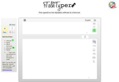TalkTyper – dictando textos con nuestra voz | Educación 2.0 | Scoop.it
