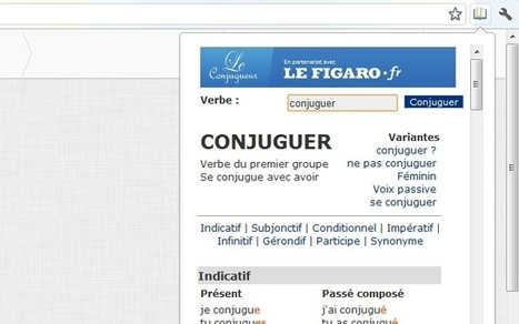 Conjuguer : une extension pour Chrome | MédiaZz | Scoop.it