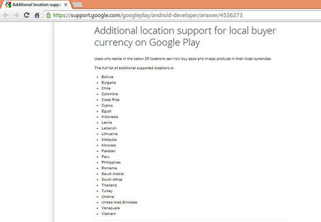 Google Play adds 25 more locations to buy products in their local currencies   Bbroy - Technology Blog   Bbroy   Scoop.it