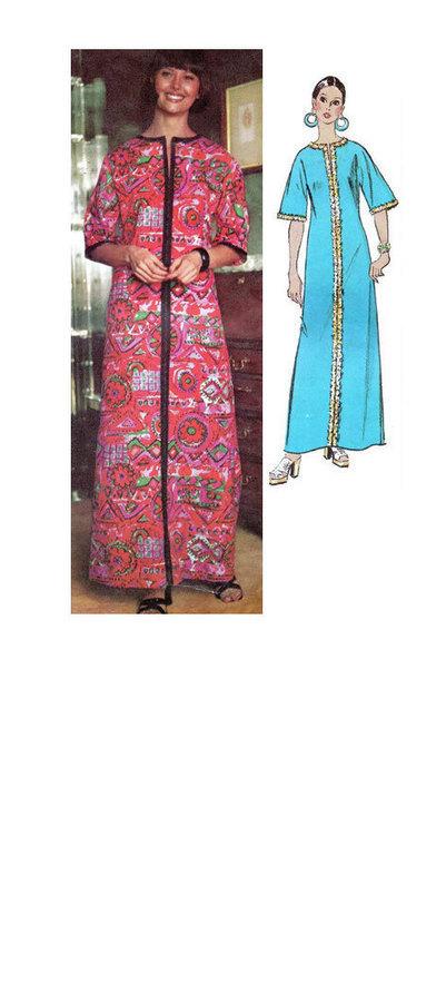 Simplicity 70s Sewing Pattern Retro Boho Hippie Caftan Maxi House Dress Robe Kimono Size Medium Bust 34 36 | Vintage Sewing Patterns | Scoop.it