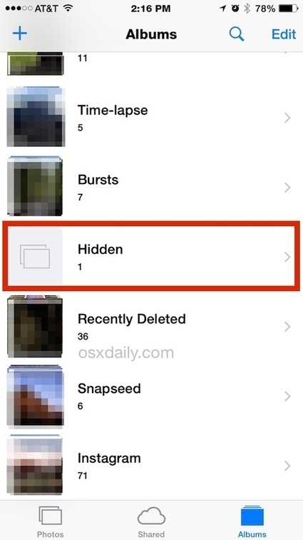 How to Hide Photos on iPhone & iPad with the iOS Hidden Album | OSX Daily | How to Use an iPhone Well | Scoop.it