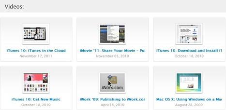 Apple - Support - Videos | Free Tutorials in EN, FR, DE | Scoop.it