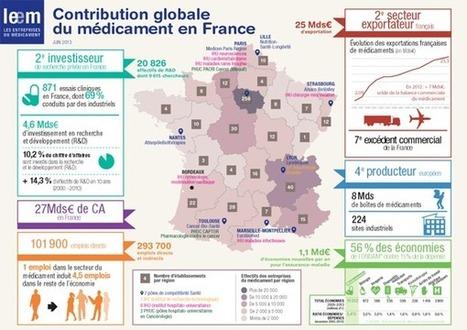 Infographie : Contribution globale du médicament en France | en veille constant sur le digital | Scoop.it