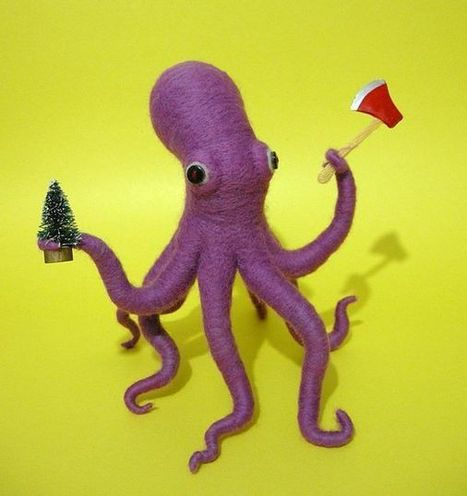 Axe-Wielding Octopus Wishes You a Merry Christmas   The Daily Weird   Scoop.it