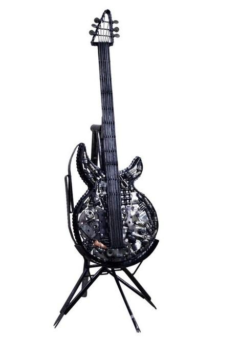 Metal Guitar Art - Recycled Parts | Metal Guitar Art – Recycled Parts | Scoop.it