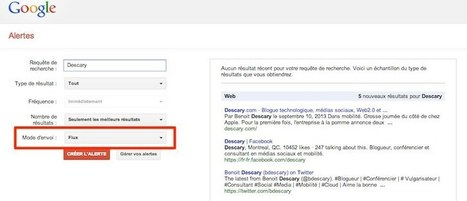 Google Alertes : retour des alertes envoyées par RSS | François MAGNAN  Formateur Consultant | Scoop.it