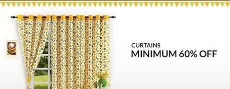 Curtains - MINIMUM 60% OFF , deals fromHome and Garden, discount voucher from India | thetradeboss | Scoop.it