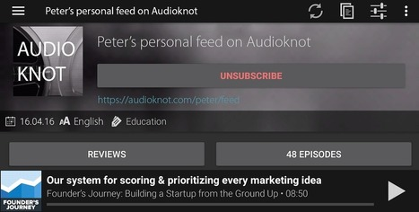 Audioknot: Pocket for podcast episodes | RSS Circus : veille stratégique, intelligence économique, curation, publication, Web 2.0 | Scoop.it