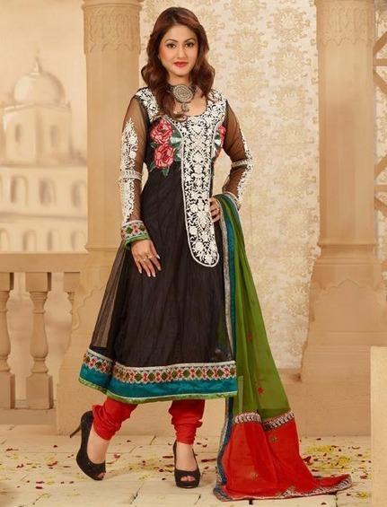 Black Churidar Kameez Set [Man15192] - Rs.3232 : Salwar Kameez,Designer Salwar Kameez, Designer Sarees, Designer Sarees, Wedding Lehengas, Indian Sarees Online store   Salwar Kameez   Scoop.it