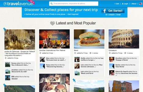 A Curated Travelers Guide: Collect Your Favorite Places and Travel Destinations with Travelavenue | Mediaclub | Scoop.it