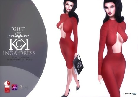 Inga Dress Group Gift by Kendrasy Creations | Teleport Hub - Second Life Freebies | Second Life Freebies | Scoop.it