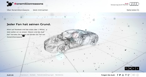 Audi #onemillionreasons – Jeder Fan hat seinen Grund. | CRÉATION DIGITALE | Scoop.it