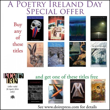 Poetry Publisher Discounts | Take advantage of some great discounts from leading Irish poetry publishers on Poetry Day Ireland 2016. | The Irish Literary Times | Scoop.it