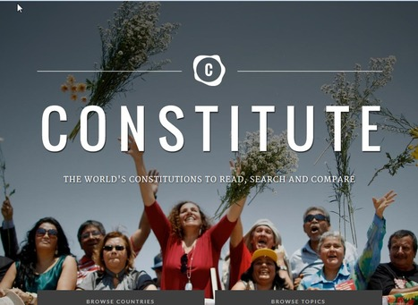 Constitute - Search, Read, and Compare Constitutions | Participation in Government | Scoop.it