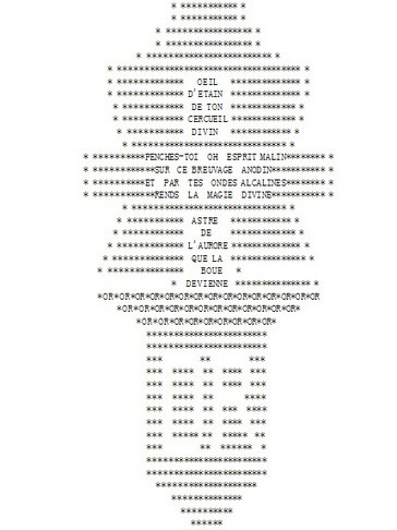«La plissure du texte», 1983A collective story telling project... | ASCII Art | Scoop.it