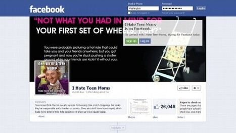 'I Hate Teen Moms' Facebook Page Under Fire - ABC News (blog) | Teen Pregnacy | Scoop.it