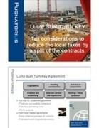 Lump Sum Turn Key Agreements   International Tax Planning   Scoop.it