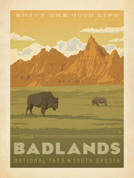 Experience the Beauty of the National Parks With These Retro Style Posters   Mr. D's AP US History   Scoop.it