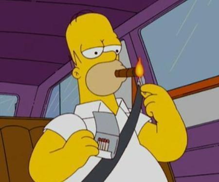 Homer fuma il Sigaro   Sigari   Scoop.it