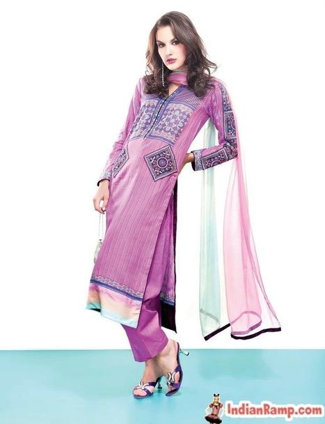 Vogue Embroidered Silk Designer Dresses for Women, Silk Salwar Kameez | stylish women | Scoop.it