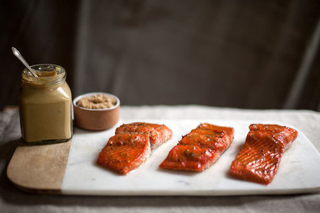 Roasted Salmon Glazed With Brown Sugar and Mustard Recipe | good looking recipes | Scoop.it