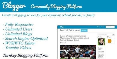 Blogger – Community Blogging Platform (Social Networking) | PHP Scripts Download | Scoop.it