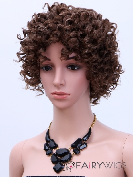 Chic Short Curly Sepia African American Wigs for Women 10 Inch : fairywigs.com | Human Hair Wigs | Scoop.it