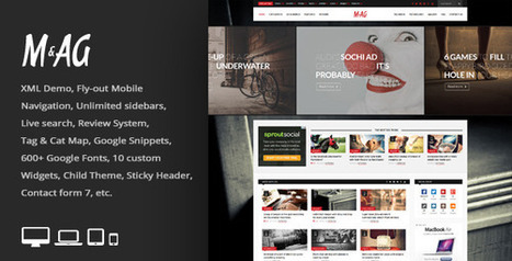 MAG v1.5 Grid Magazine / News WordPress Theme - themeloud.com | Free Download Premium Wordpress Themes and Plugin | Scoop.it