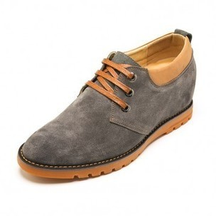 Comfortable Grey Cow Leather Taller Casual Shoes Add Height 6 cm / 2.36 inch on sale at topoutshoes.com | Elevator Casual shoes men height increasing Taller | Scoop.it