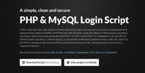 Download open source free PHP and Mysql login script | W3 Update | Tutorial | Scoop.it