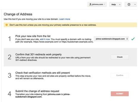 L'outil de changement d'adresse des Google Webmaster Tools accepte les sous-domaines | SEO, SMO, SEM | Scoop.it