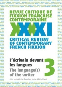Revue critique de fixxion française contemporaine, n°3 | Revues | Scoop.it