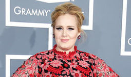 Adele Wears Red, Floral Printed Valentino Dress at 2013 Grammy Awards | Plus-Size Fashion and Style | Scoop.it