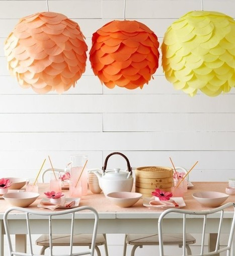 DIY Colorful Paper Lanterns | DIY Craft Ideas For The Home | Scoop.it