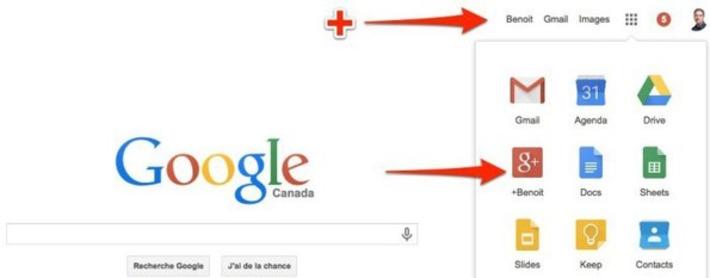 Google: le lien pour atteindre Google+ depuis la barre de navigation a disparu | TIC et TICE mais... en français | Scoop.it